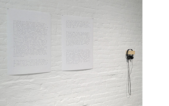 Private Space in a Public Time (installation at Reverse)